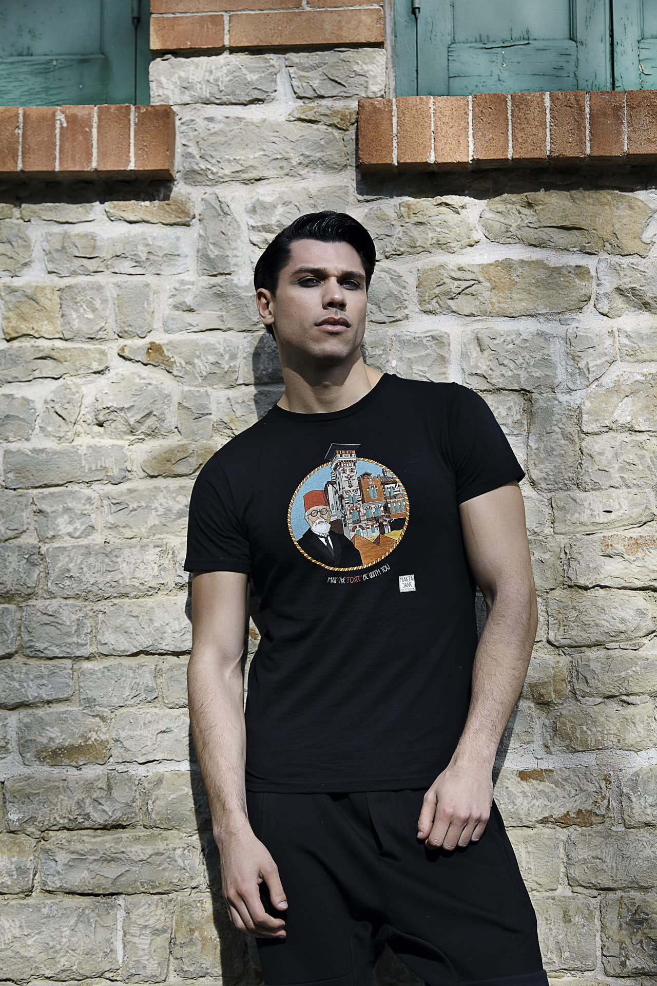 T-Shirt ART FENICE BLACK T-Shirt ART VILLINO VERRUCCI BLACK
