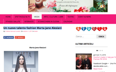 Flash Style magazine – Un nuovo talento fashion Marta Jane Alesiani