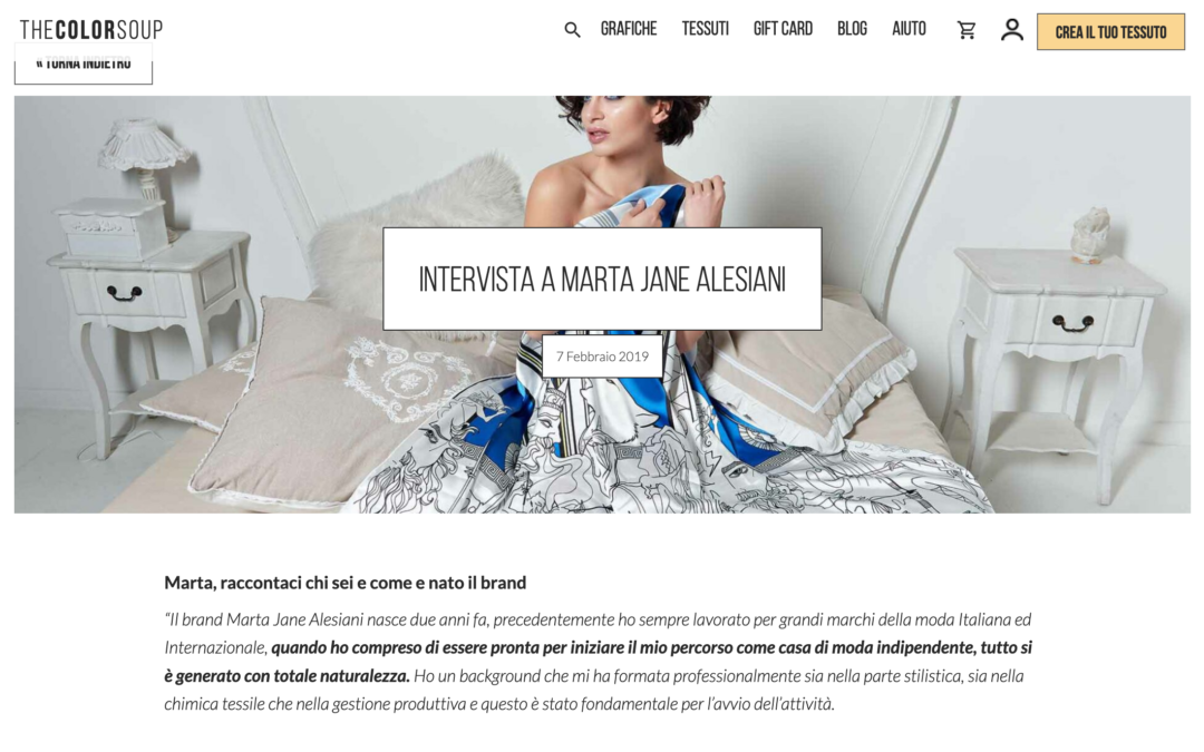 The Color Soup magazine: Intervista a Marta Jane Alesiani
