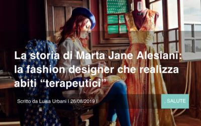 """La storia di Marta Jane Alesiani: la fashion designer che realizza abiti """"terapeutici"""""""