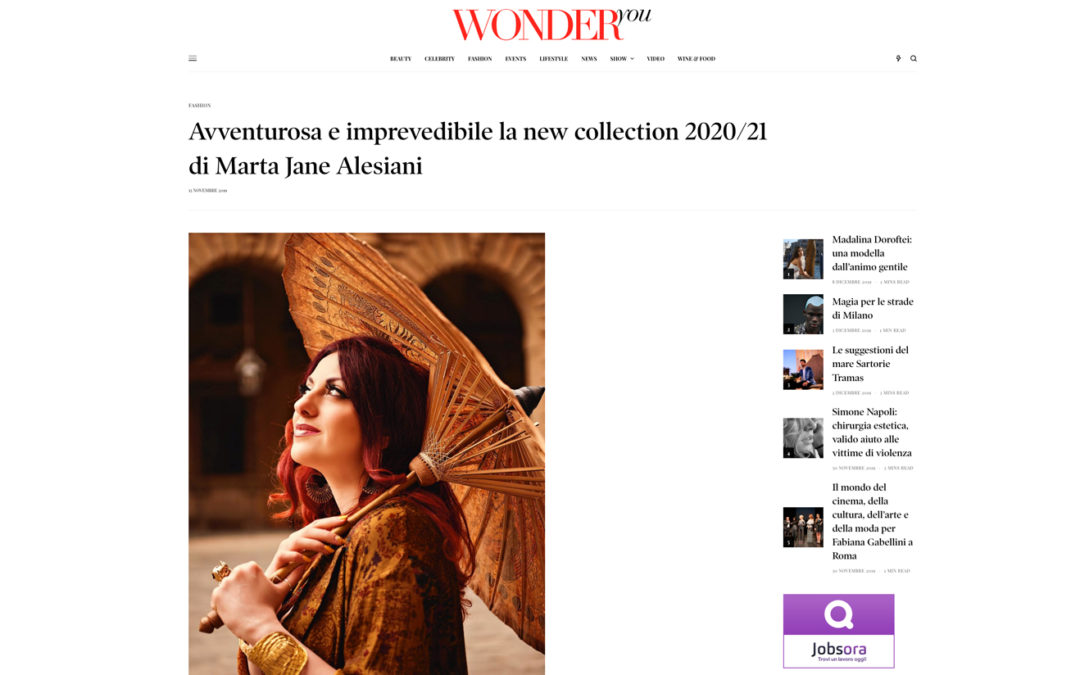 Wonder you – Avventurosa e imprevedibile la new collection 2020/21