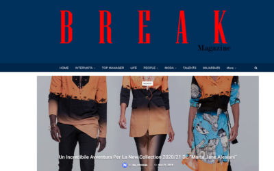 "Breack magazine – Un incredibile avventura per la new collection 2020/21 di: ""Marta Jane Alesiani"""